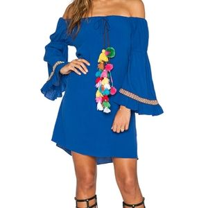 Revolve Off-shoulder dress with tassels